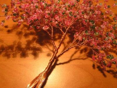 Деревья из бисера мастер класс 8