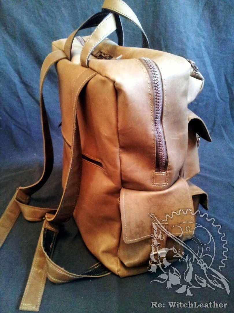большой интурист натуральная рюкзак кожа мужской
