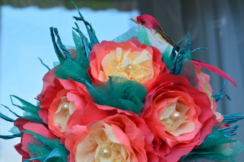 8марта топиарий деньсвятоговалентина цветочныйшар гофрированнаябумага весна цветы