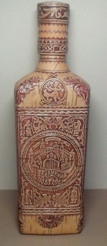 бутылка сувениры береста берестяные подарки