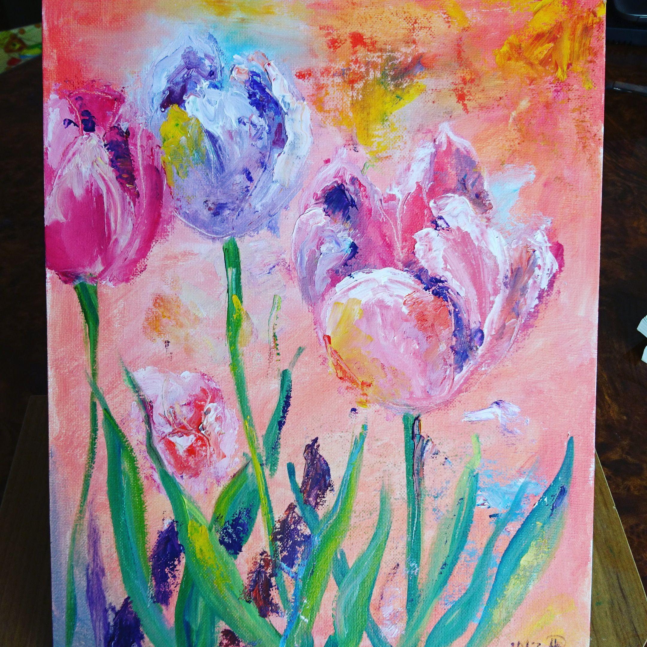 живопись мастихин тюльпаны