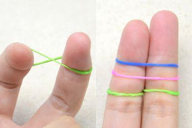 Как сделать браслет из резинок 2