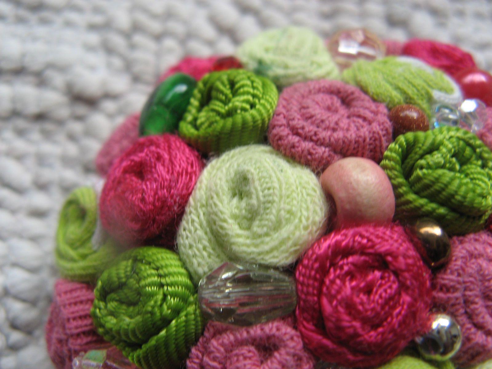 галка рассказова бохо украшение брошь текстиль стиль подарок винтаж