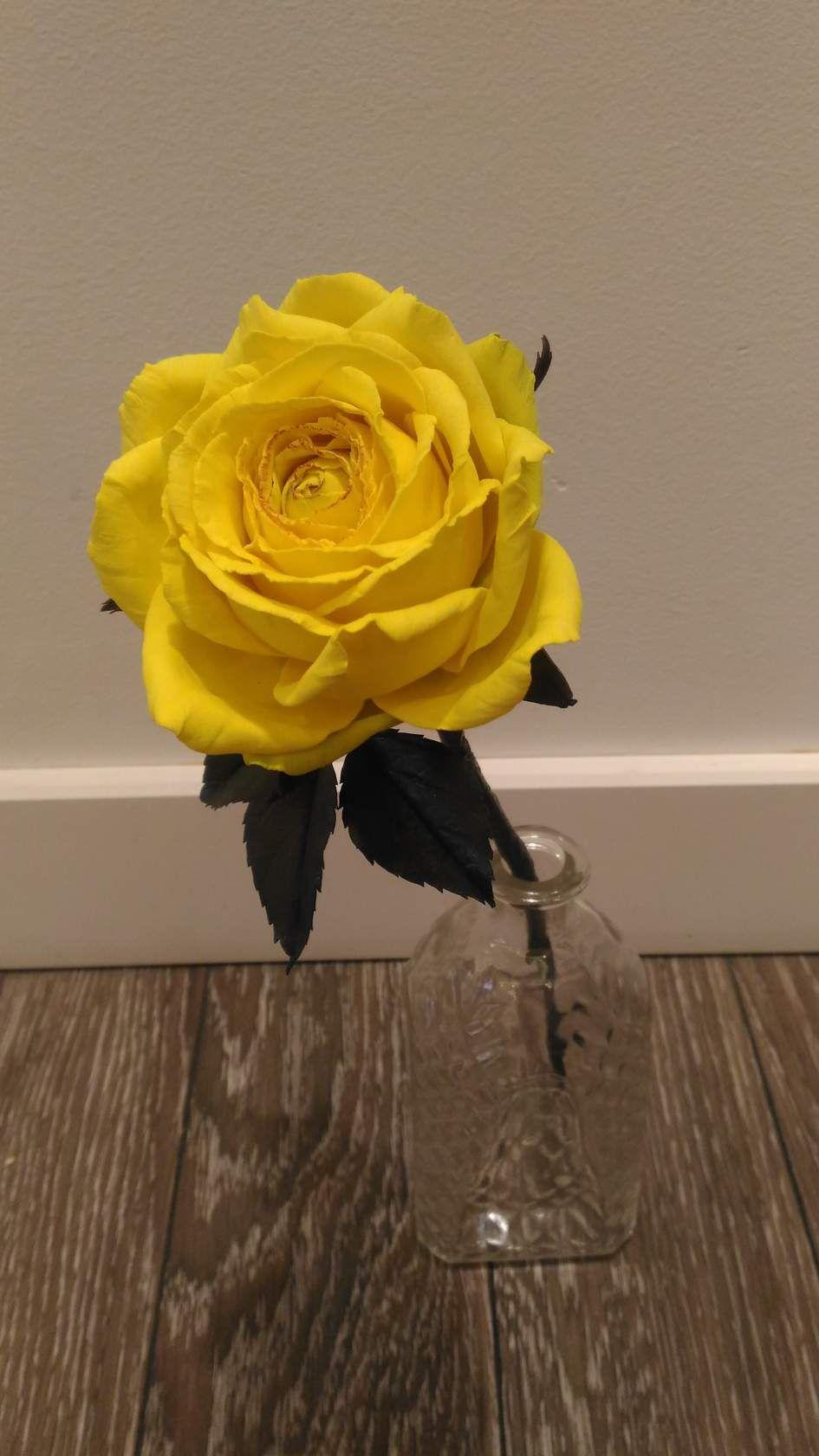 из фоамиранароза цветы