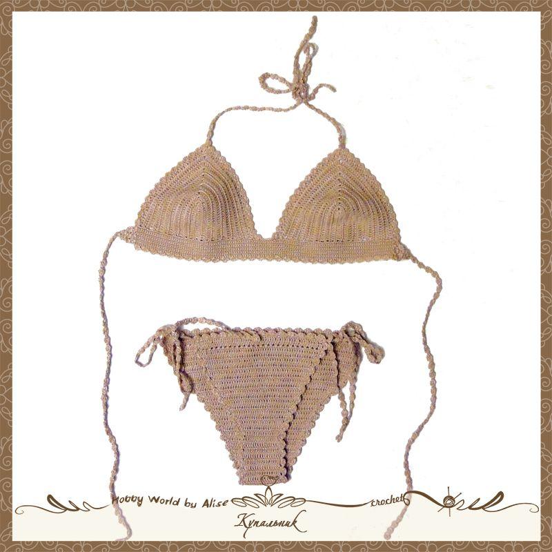 пляж купальник бикини вязание крючком лето