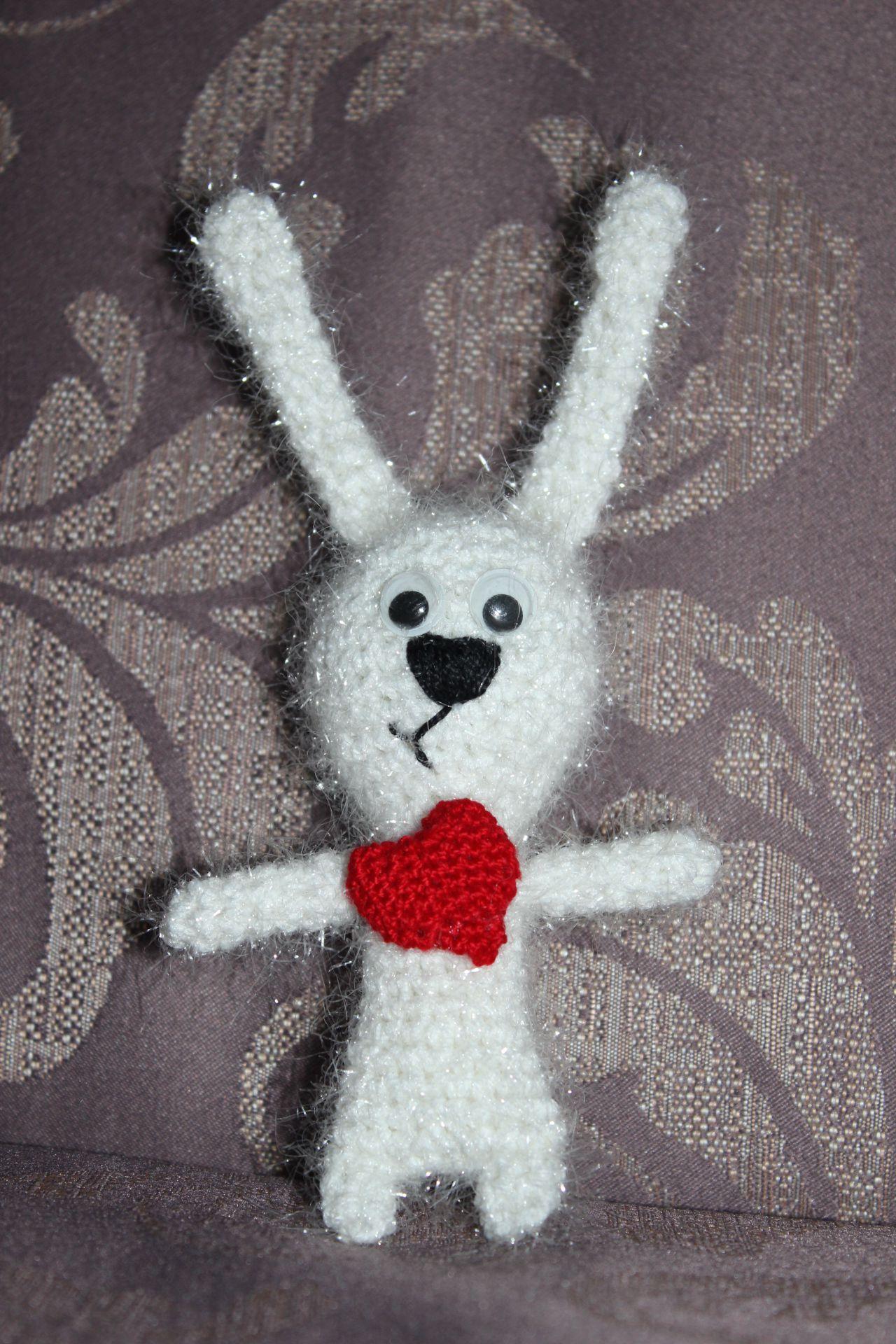 вязание заяц подарок крючок