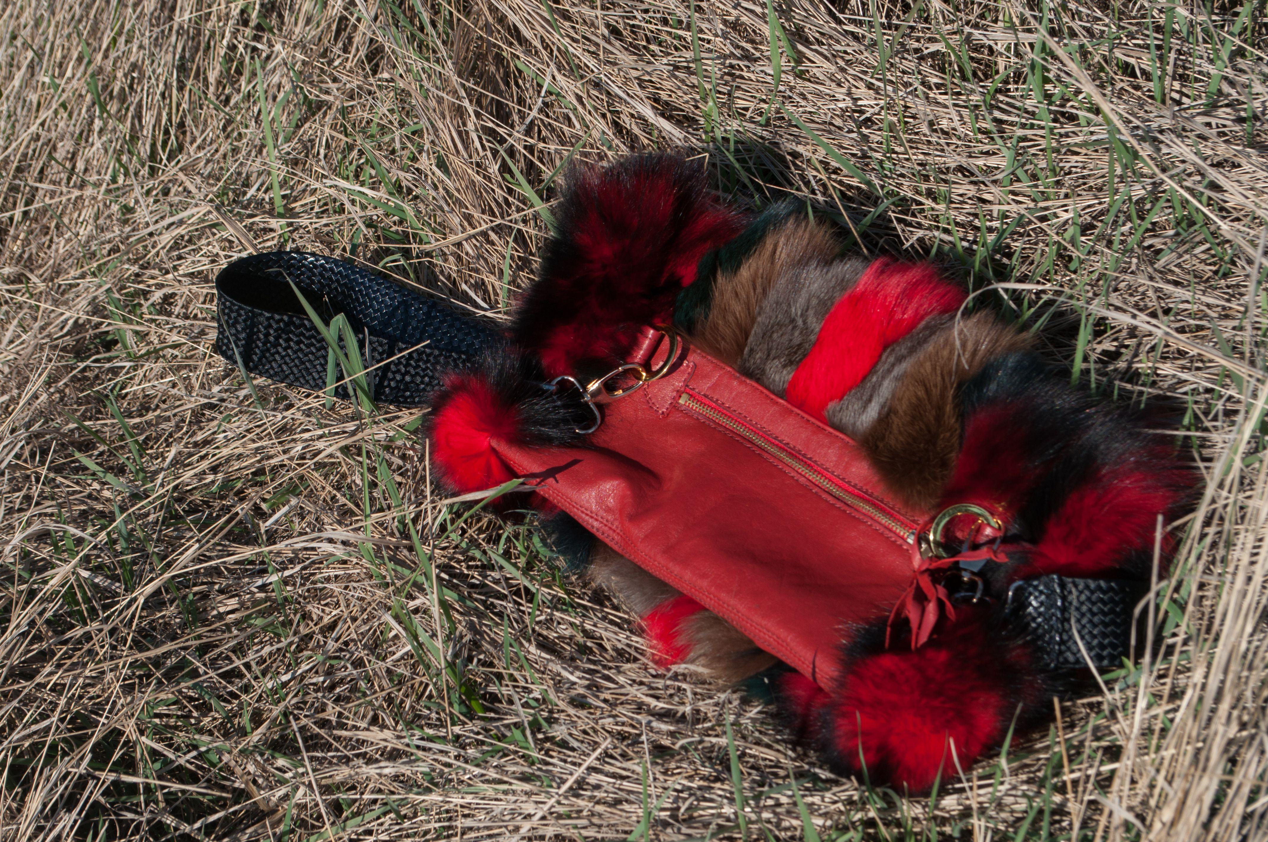 кожа мех муфта сумка натуральная натуральный кожи меха меховая