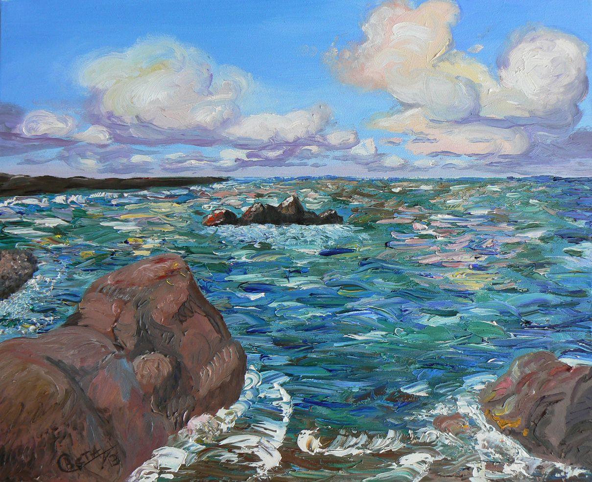 современноеискусство картинамаслом море рисунки