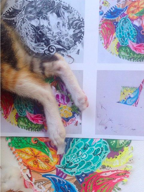 zentangle copic открытка
