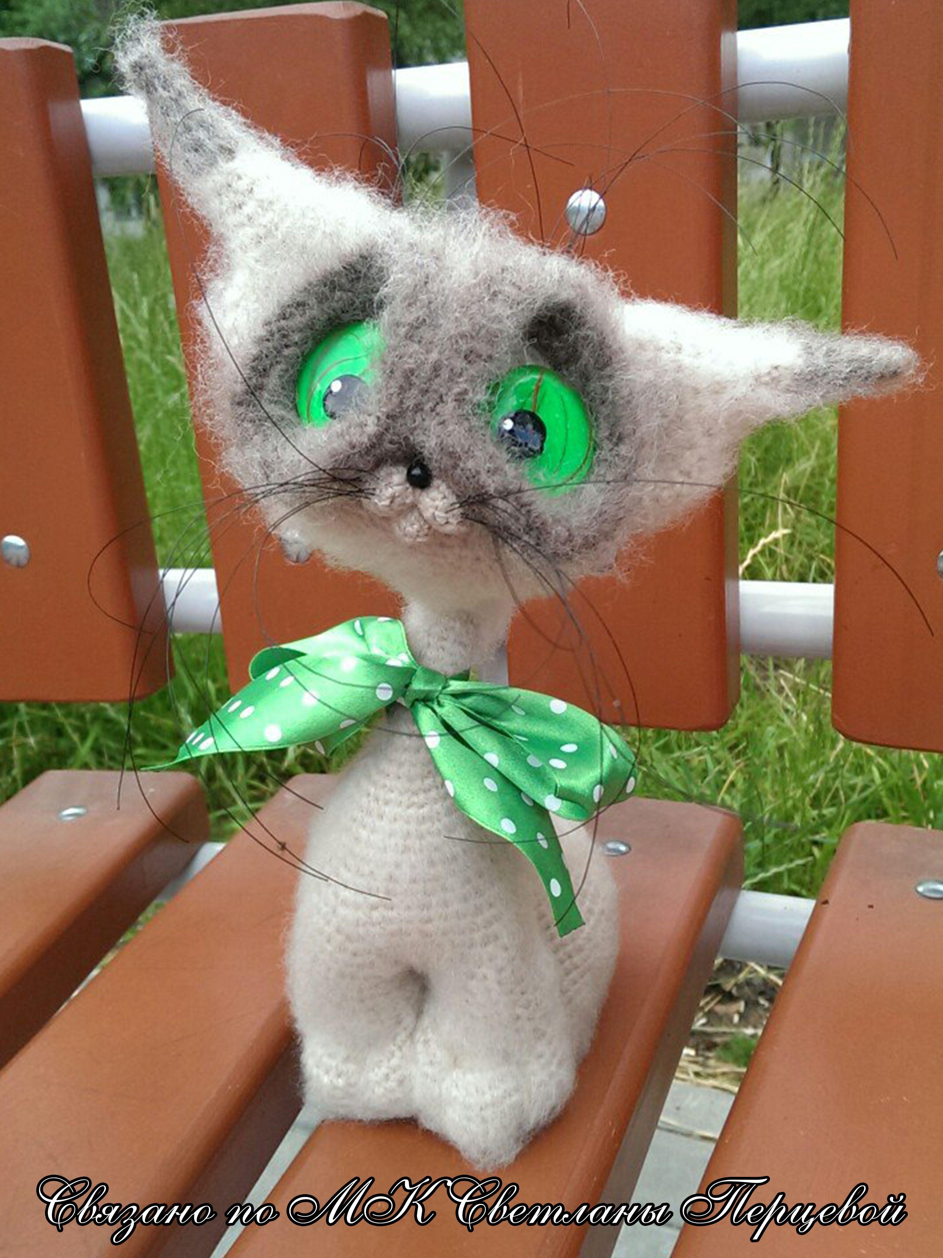 интерьерная авторская вязание игрушка шерсть крючком кот слон работа котенок ручная акрил пингвин девушке всем сиам сфинкс мохер подарок мышка кошка