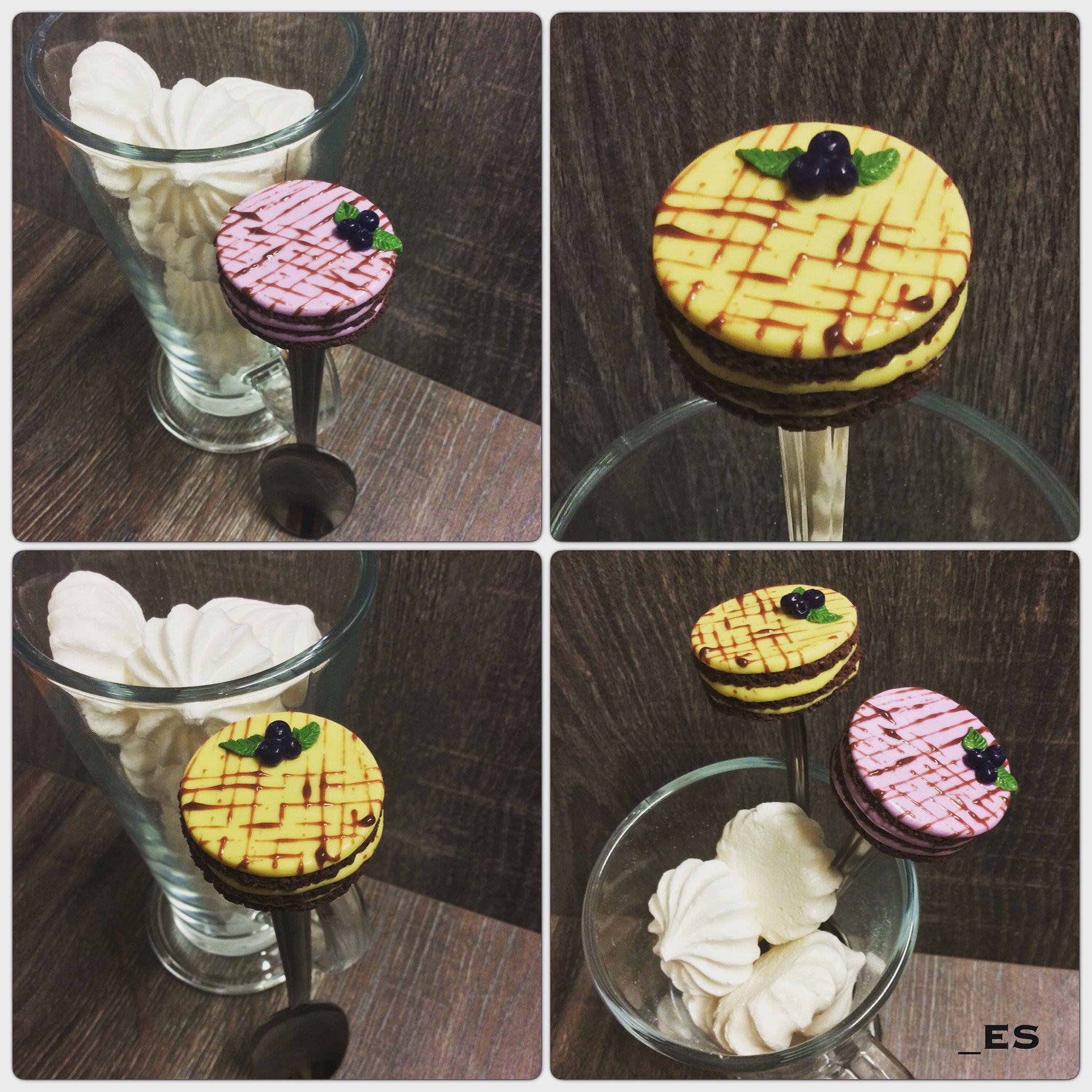 ложкадлясладкоежки тортналожке вкуснаяложка шоколадныйторт оригинальныйподарок вкусныеложки полимернаяглина