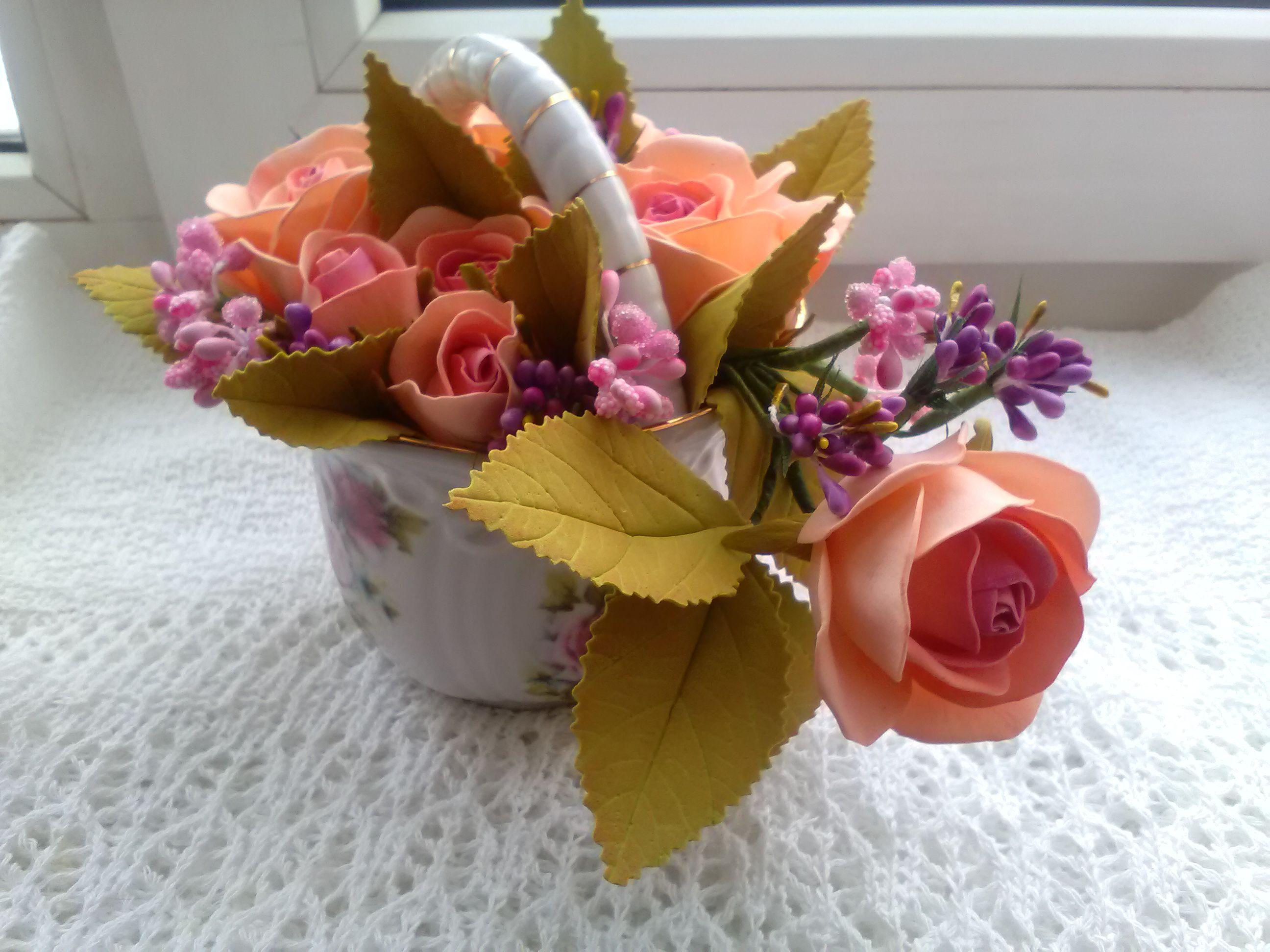 фоамиран интерьер розы цветы