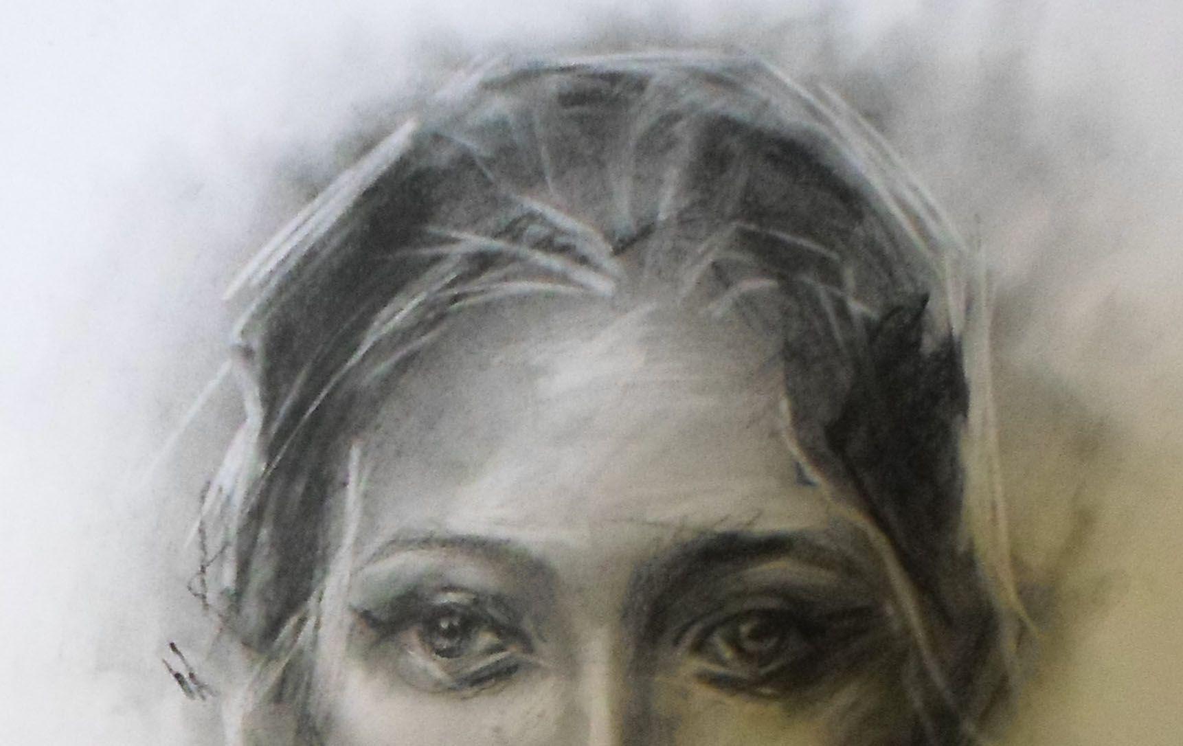 женщина современное портрет искусство глаза пастель изобразительное