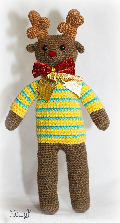 игрушка новый ручная амигуруми вязание животные детям работа крючком год олень