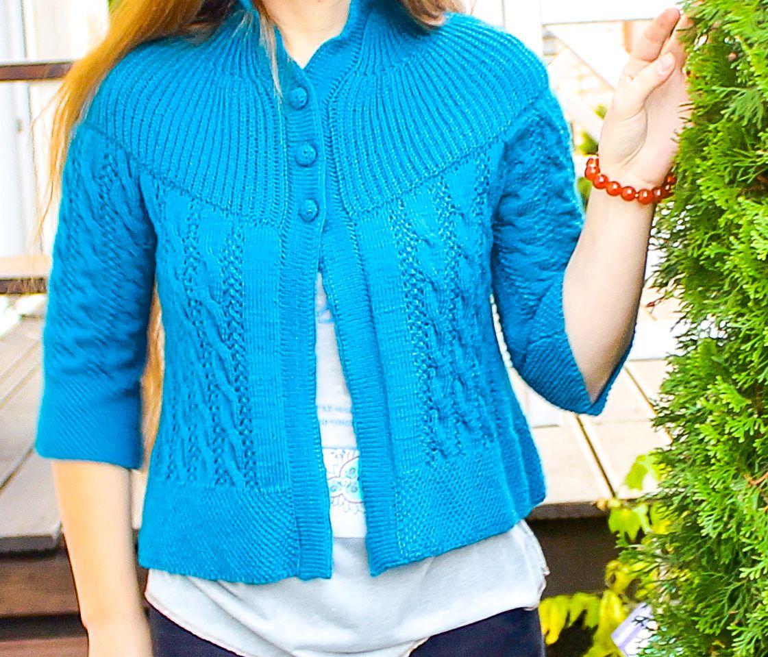 кофтаспицами спицами подарок вязаная одежда handmade подруге ручная теплая заказ работа женская кофта женщине бирюзовый