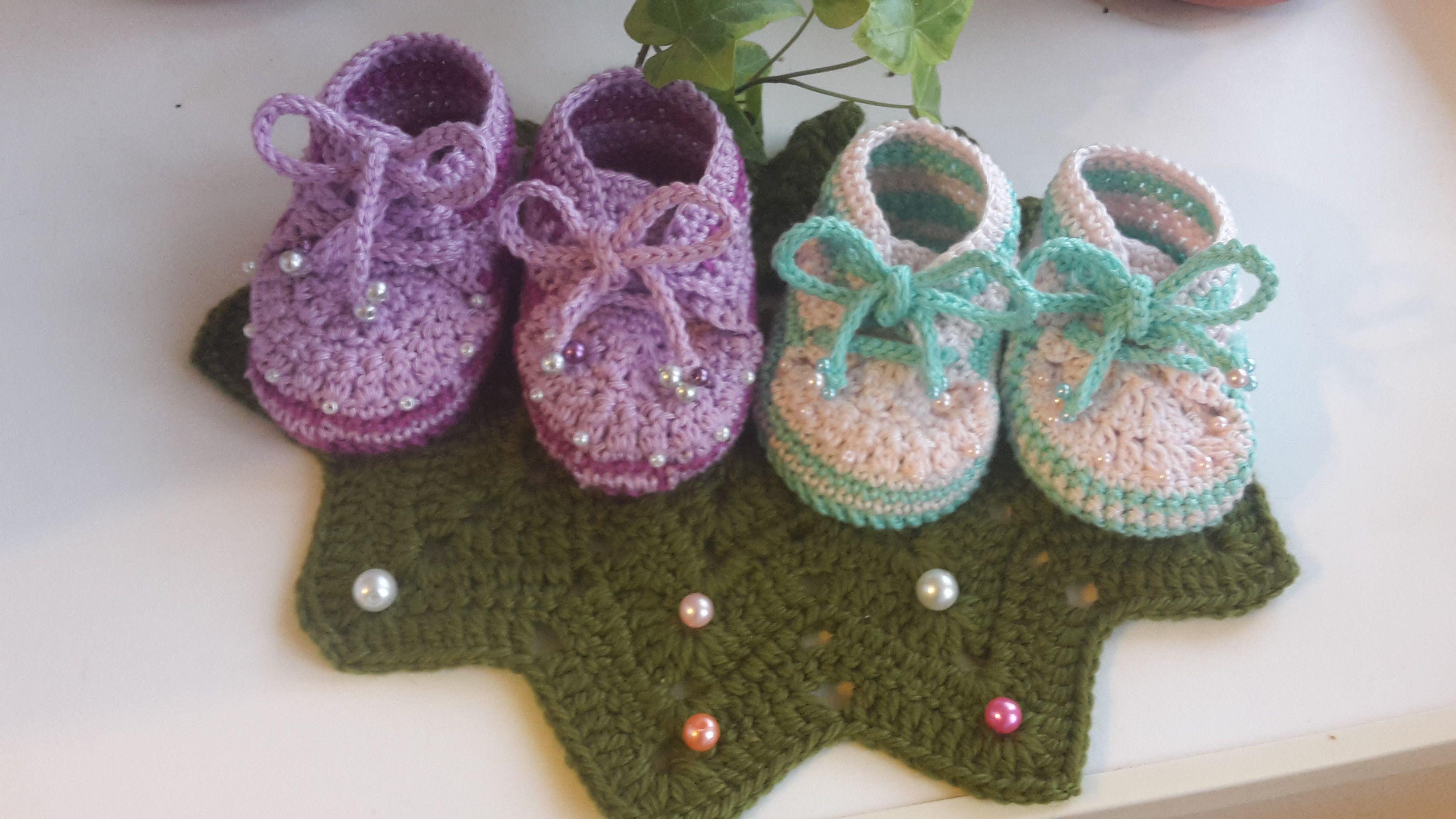новорожденным пинетки ручная работа вязание