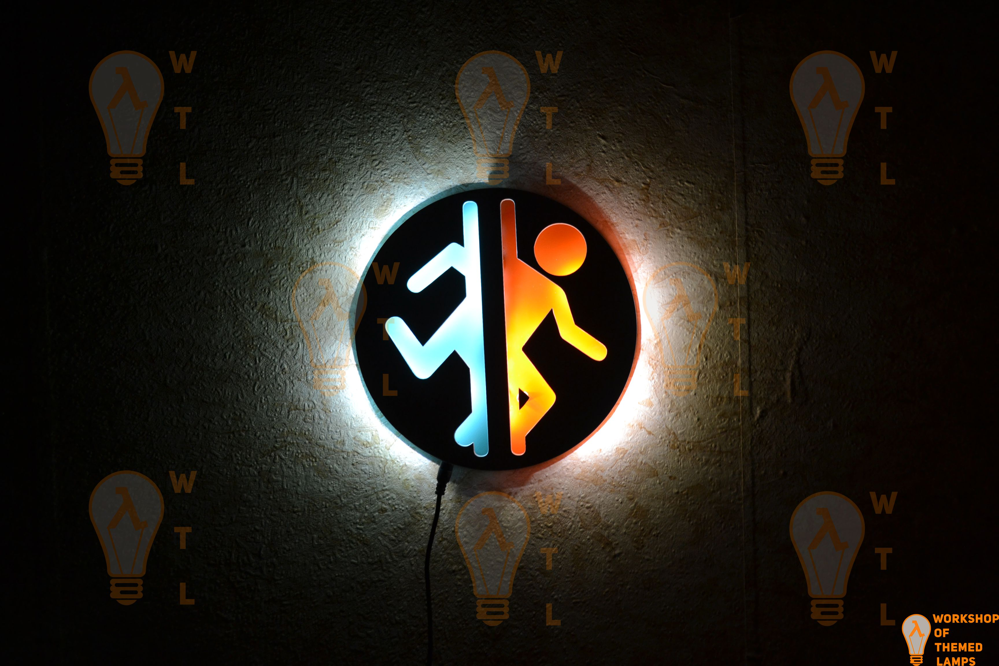 мужчине подарок стену игра ночник светильник portal портал домой парню