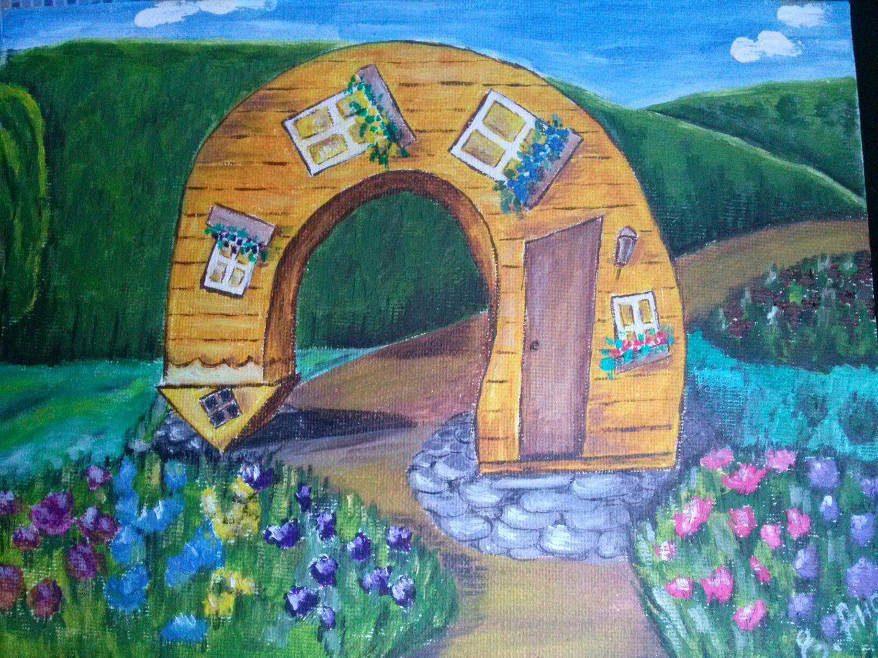 холст подарок картина масло фантазия детям дом