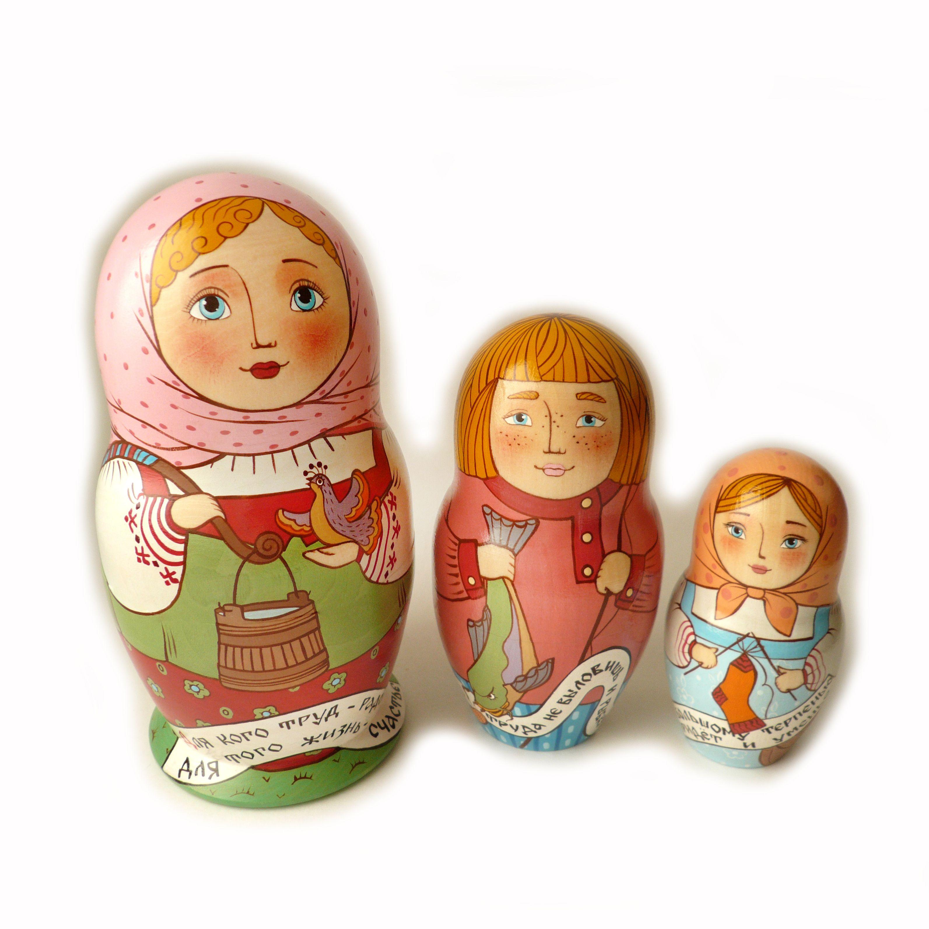 сувенир матрёшки матрёна матрёшка русский