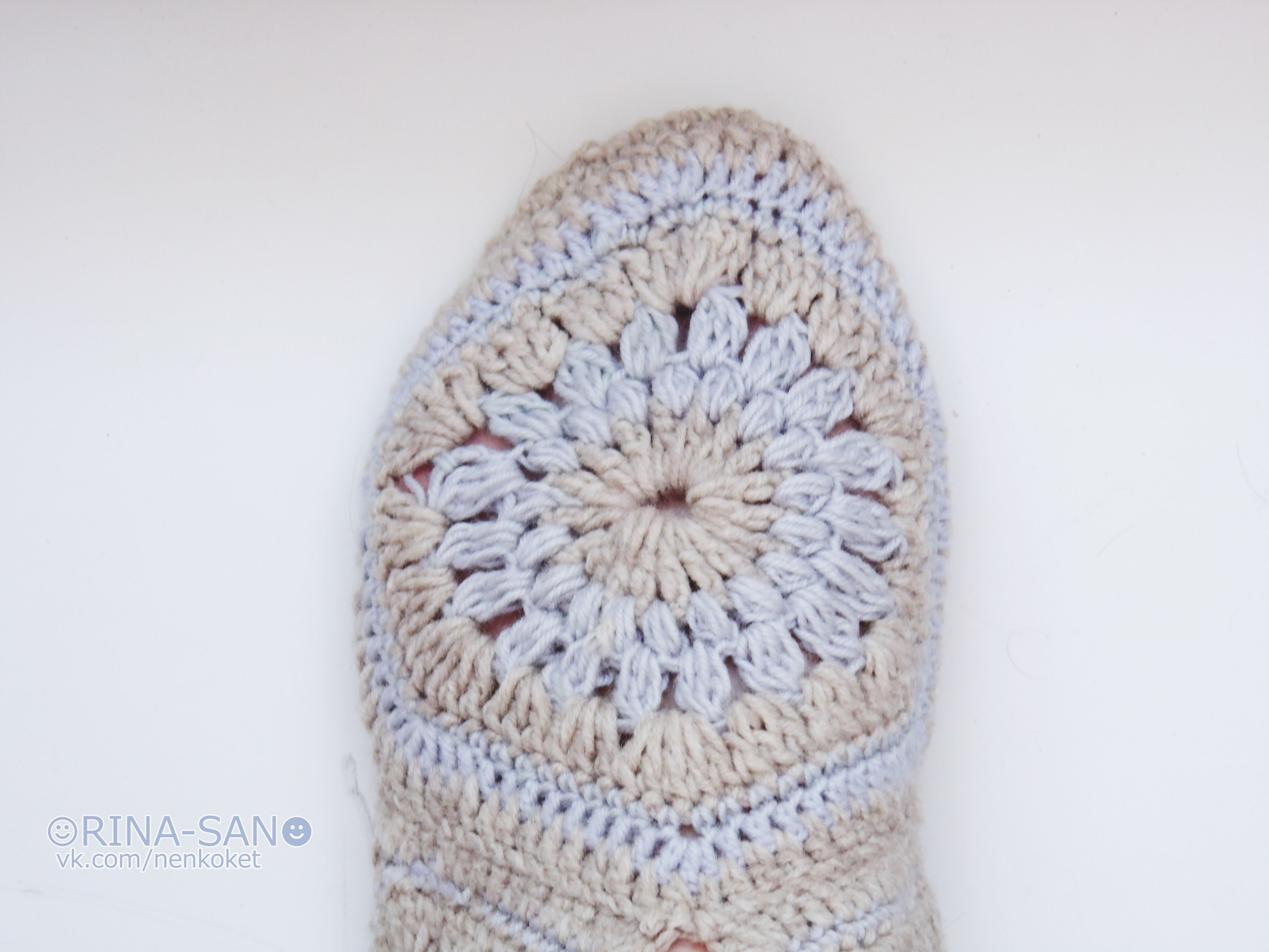 мотивы handmade ручная вязание тапочки работа крючок