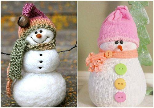 Новогодние поделки из своими руками снеговик