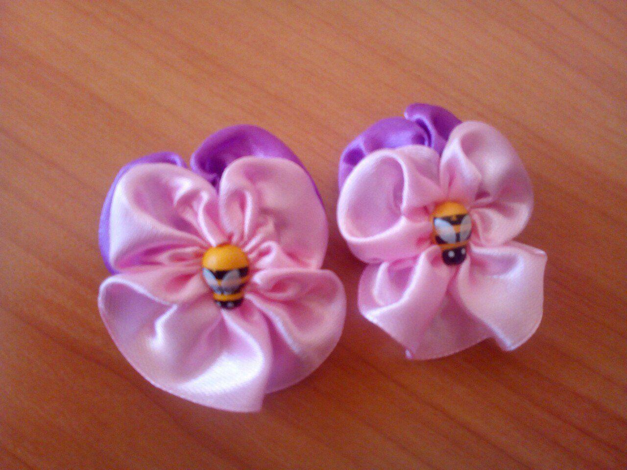 Резинки для девочек из атласных лент