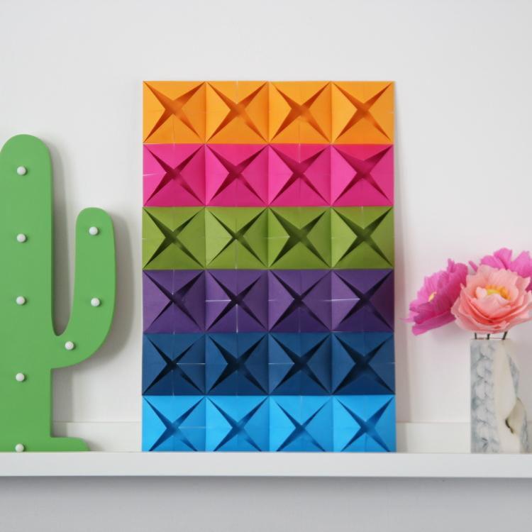 креативнаяидея идеидлядома вдохновение цветноепанно декорнастену сделайсам цветнаябумага панно декор креатив интерьер поделки оригами своимируками хендмейд