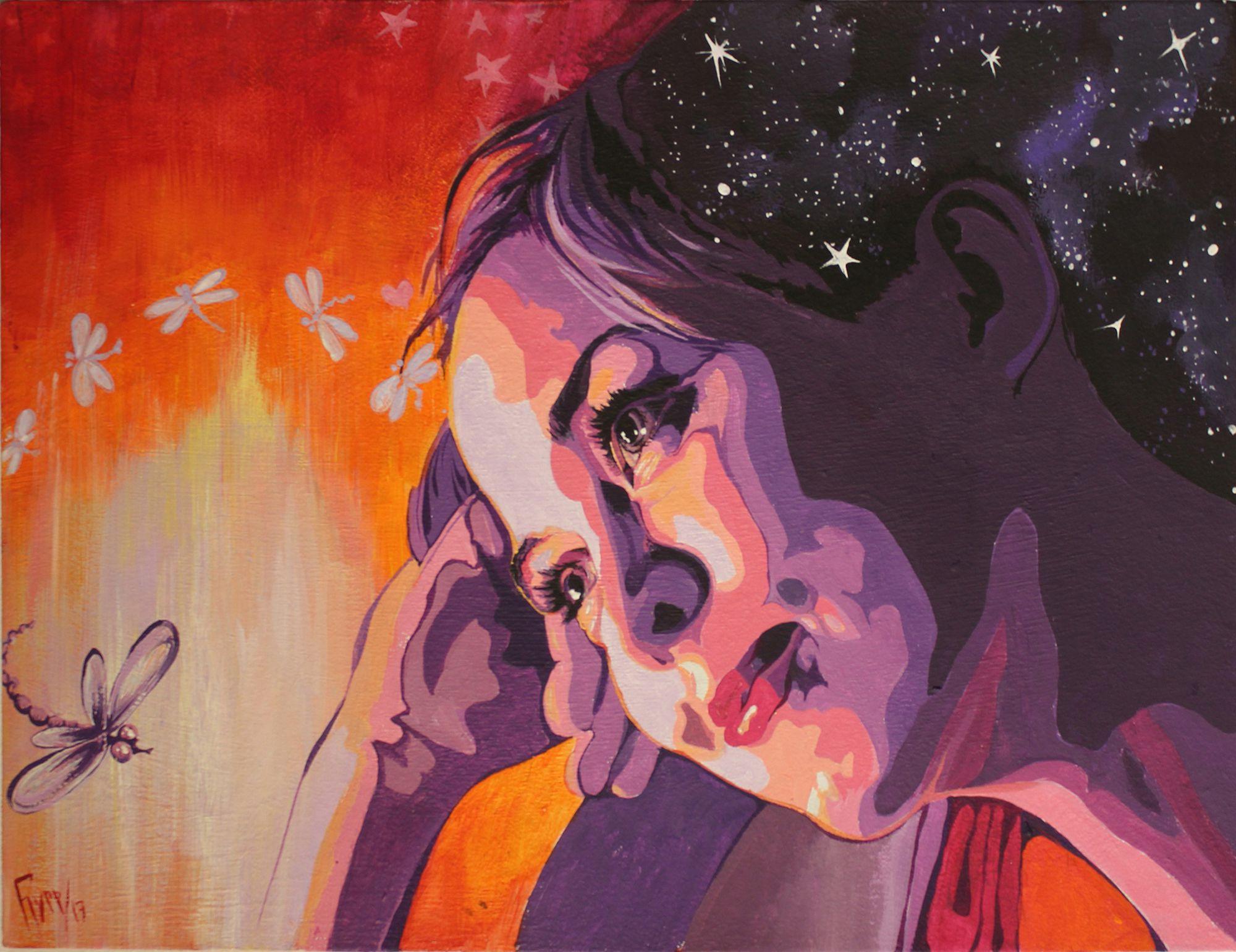 портрет подарок космос сказка на заказ люди девушка