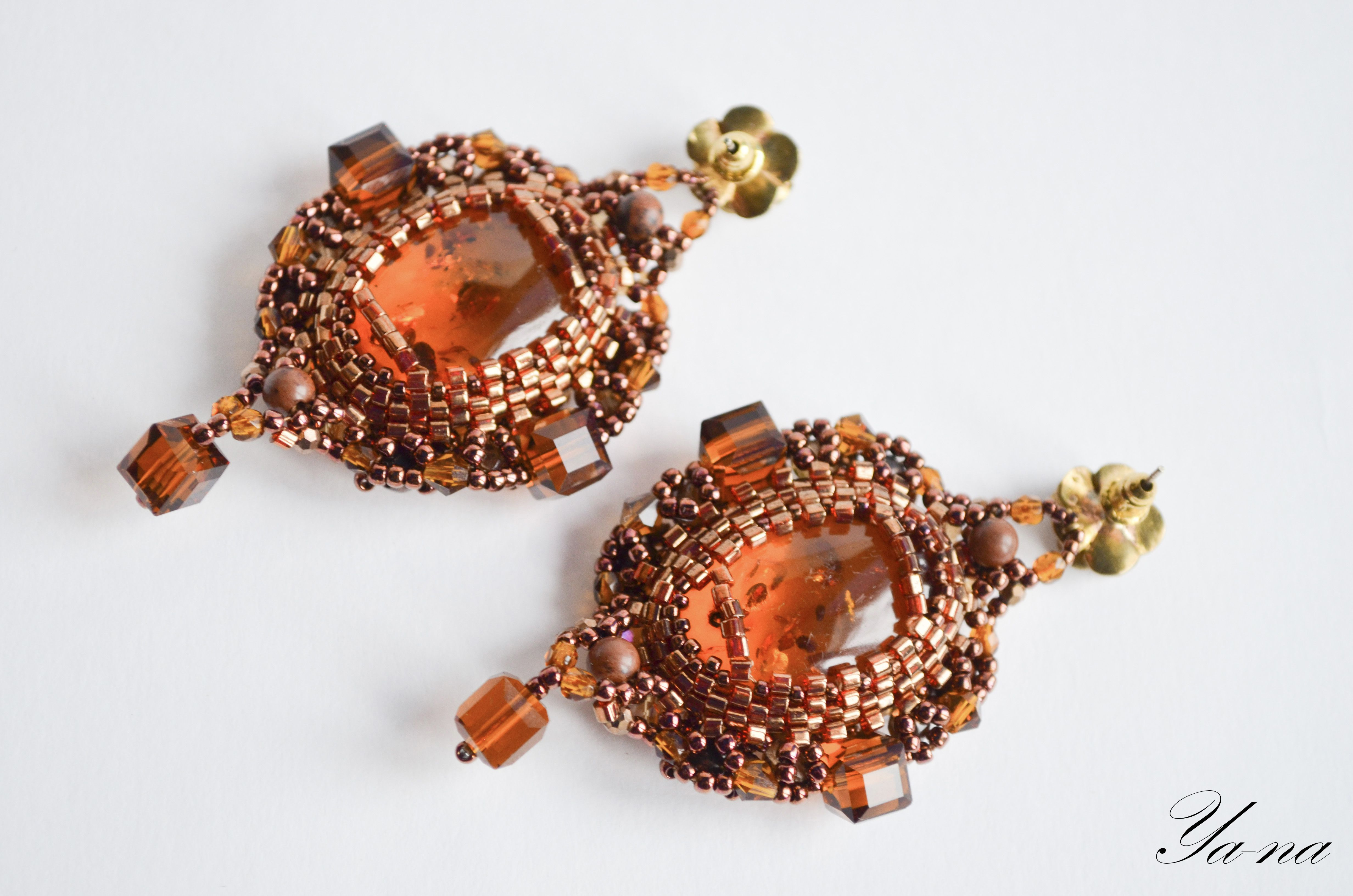 ручнаяработа янтарь бисер длядевушки серьгиизбисера бисерныесерьги серьгисянтарем янтарныесерьги серьгиянтарные дляженщины