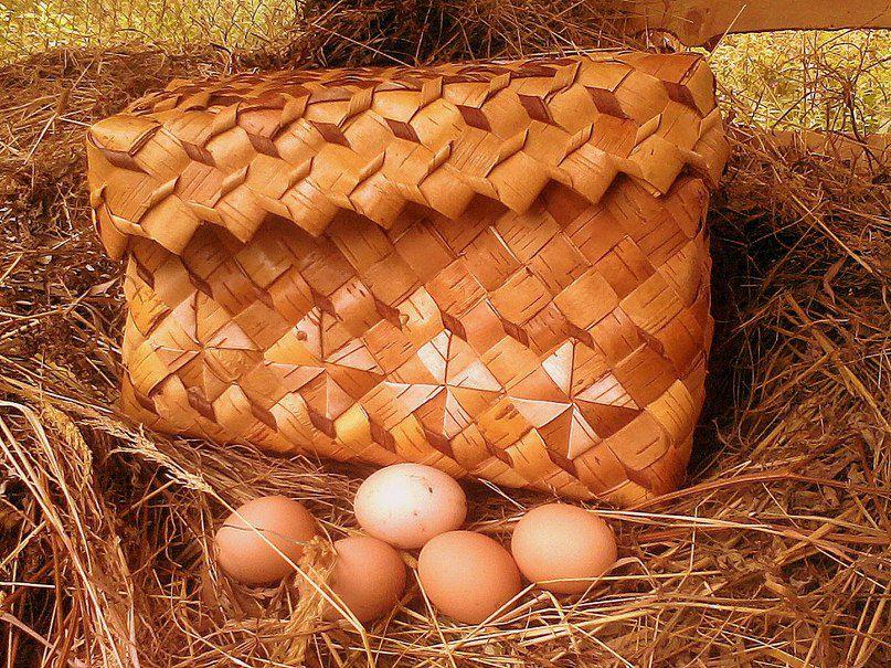 плетение хлебница береста