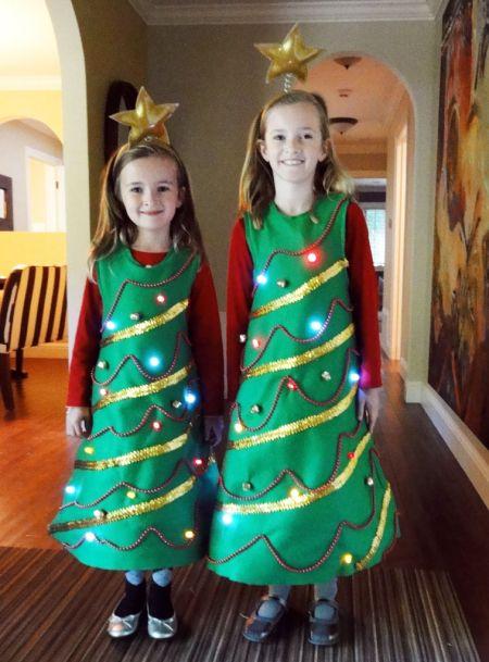 Новогодний костюм для девочки своими руками 8