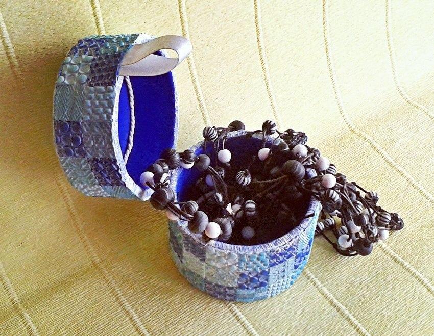 глина мастеркласс запекание шкатулка полимерная мозаика