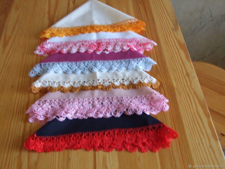 платочки подарок вышитые кружевные носовые батистовыв