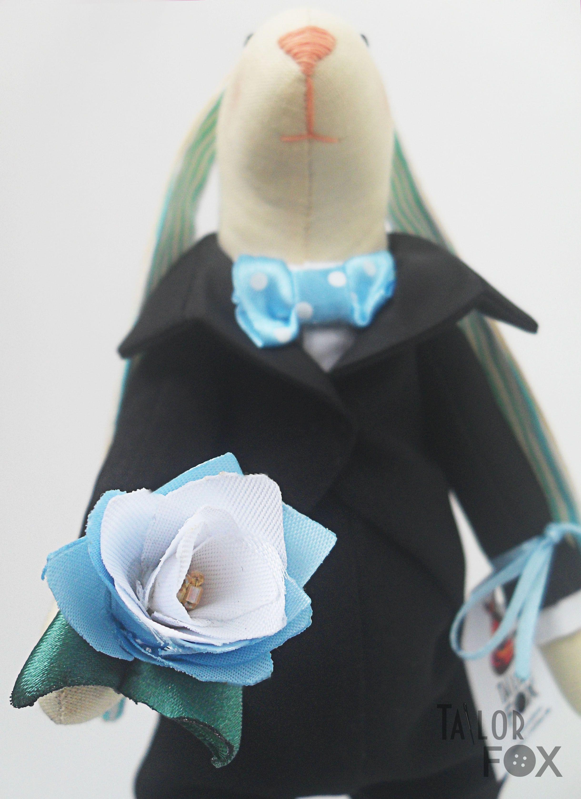 подарок подарокдевушке заяц тильда фрак джентельмен