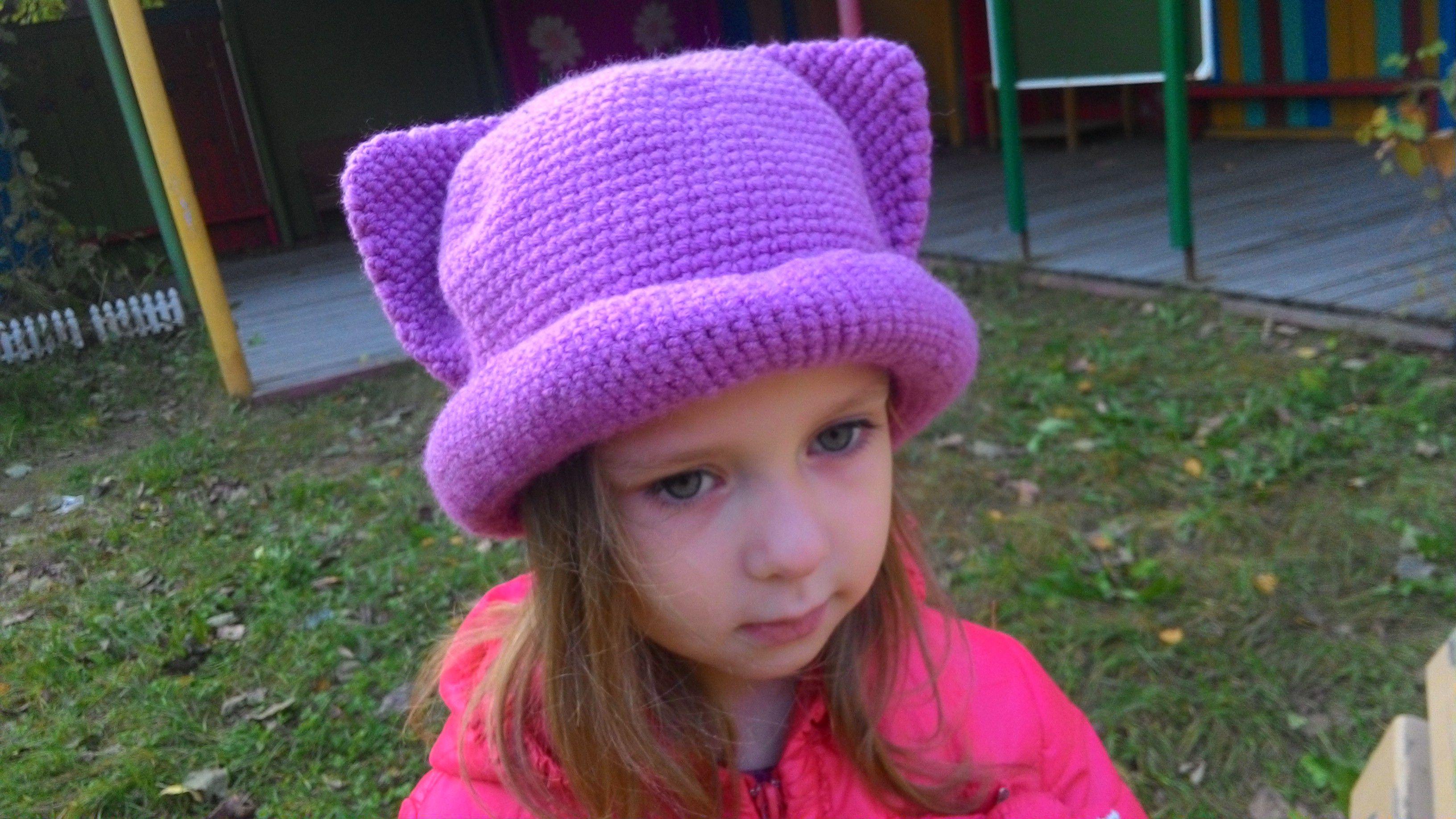 спицами осенняя девочек одежда необычная шапка для девочки шапкашляпа детская вязание