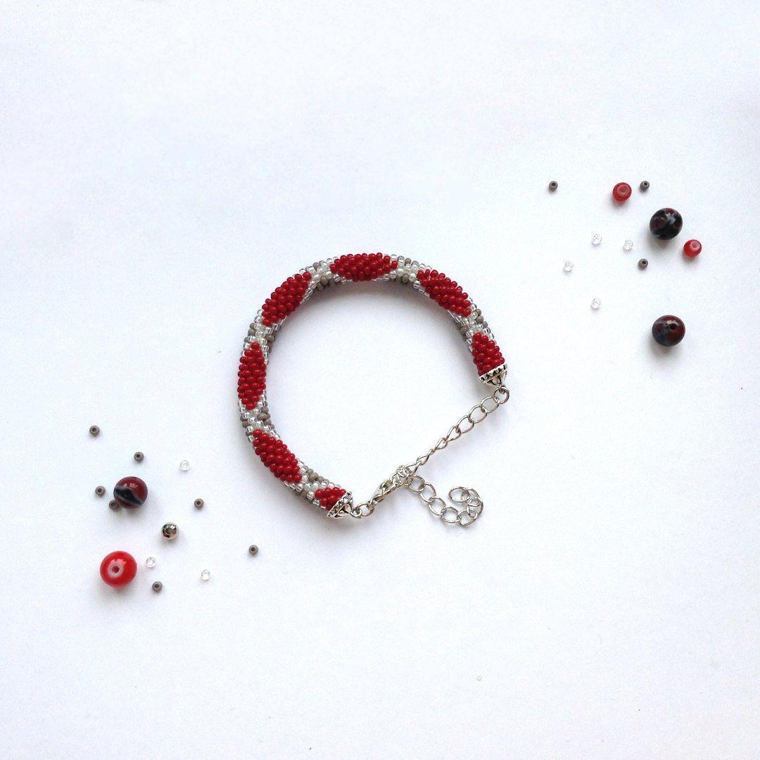 бижутерия крючком украшения handmade браслет бисер