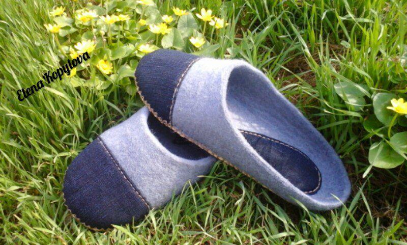 тапочки обувь шерсть валяная