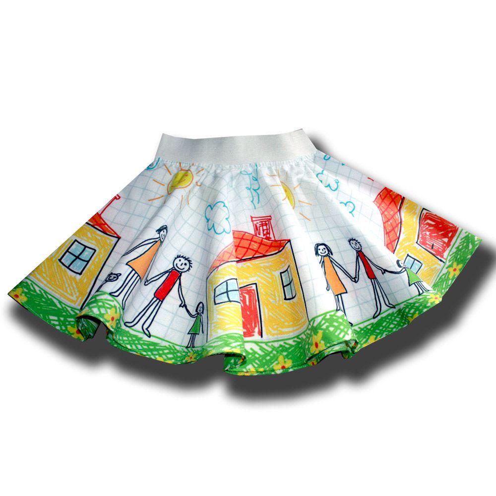 фотопринт лето2015 полиэстер зелёный клетка топ девочки модное девочке нарядный стильный оранжевый детское юбка комплект рисунок зеленый лето платье подарок