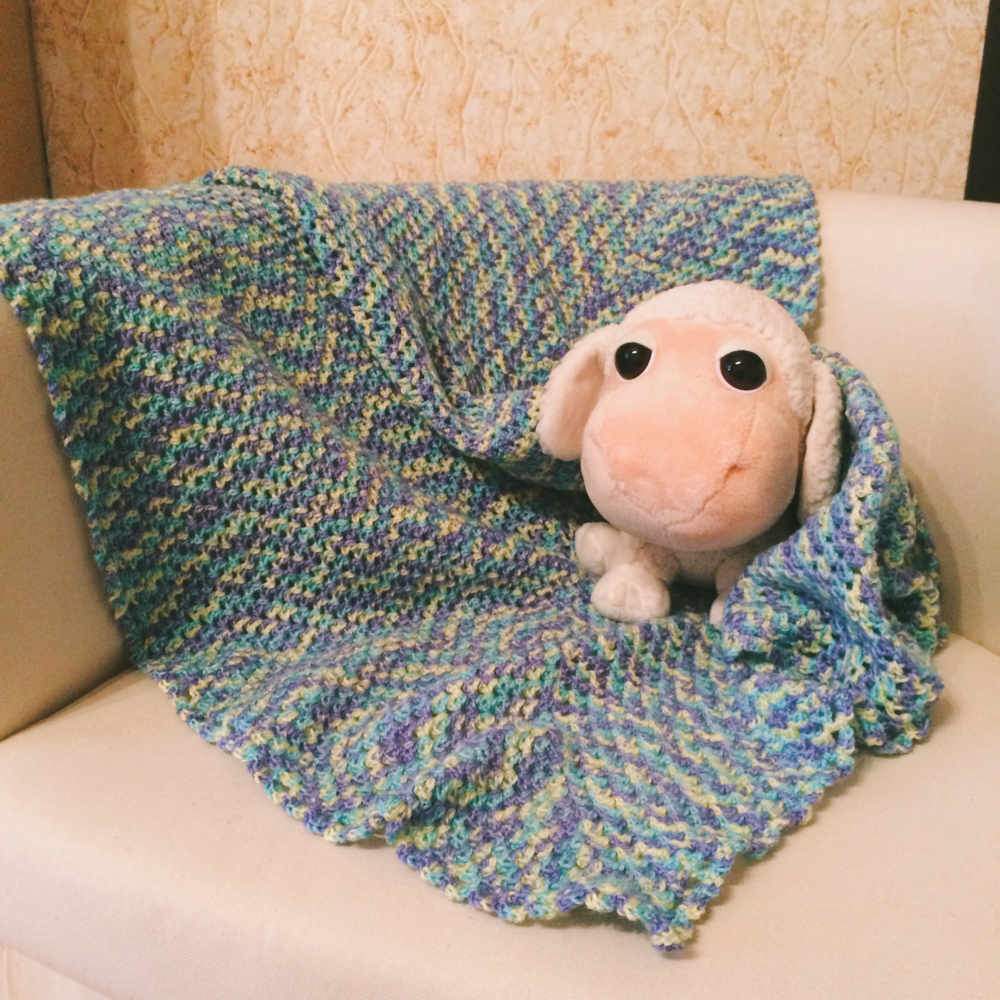 новорождённому полушерсть вкроватку коляску девочке мальчику акрил унисекс вязаный в ручнаяработа детский плед шерсть подарок