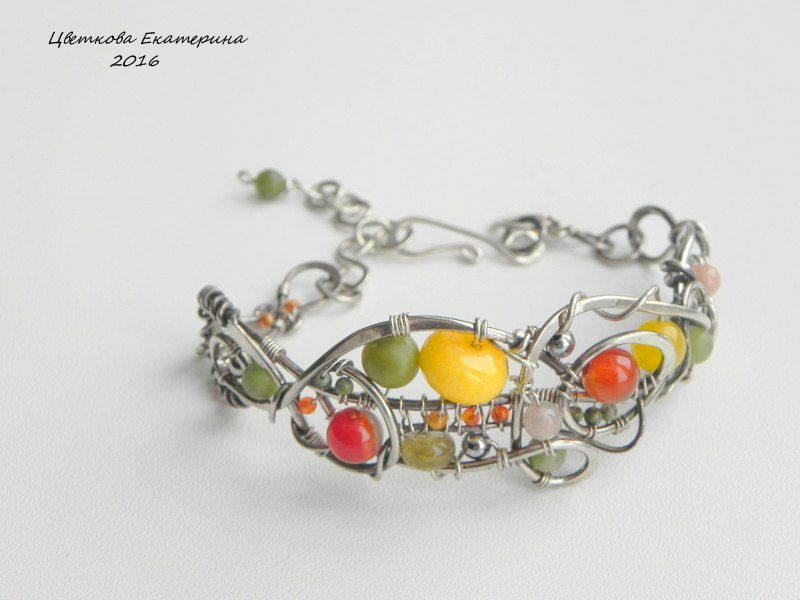 cvetkova браслет handmade wirewrap