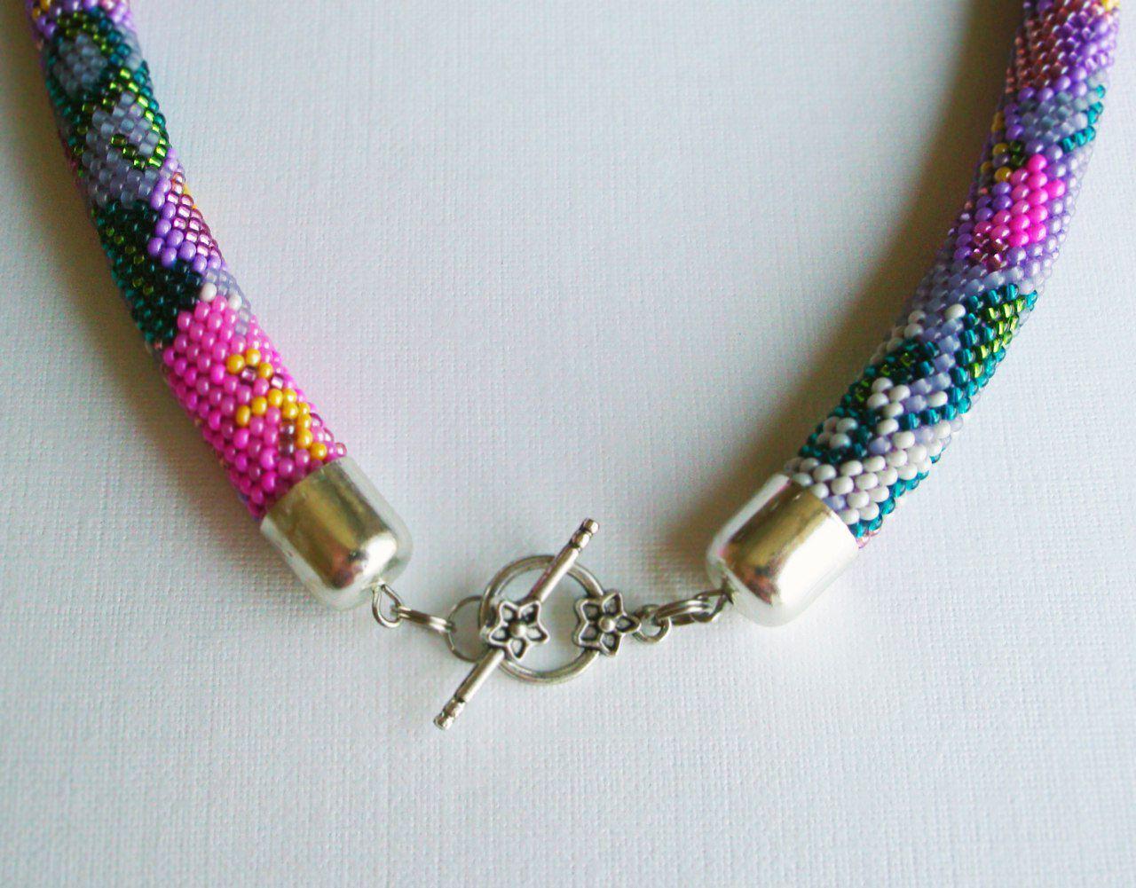 ожерелье вязаный вязаные бисер жгут украшение шею колье