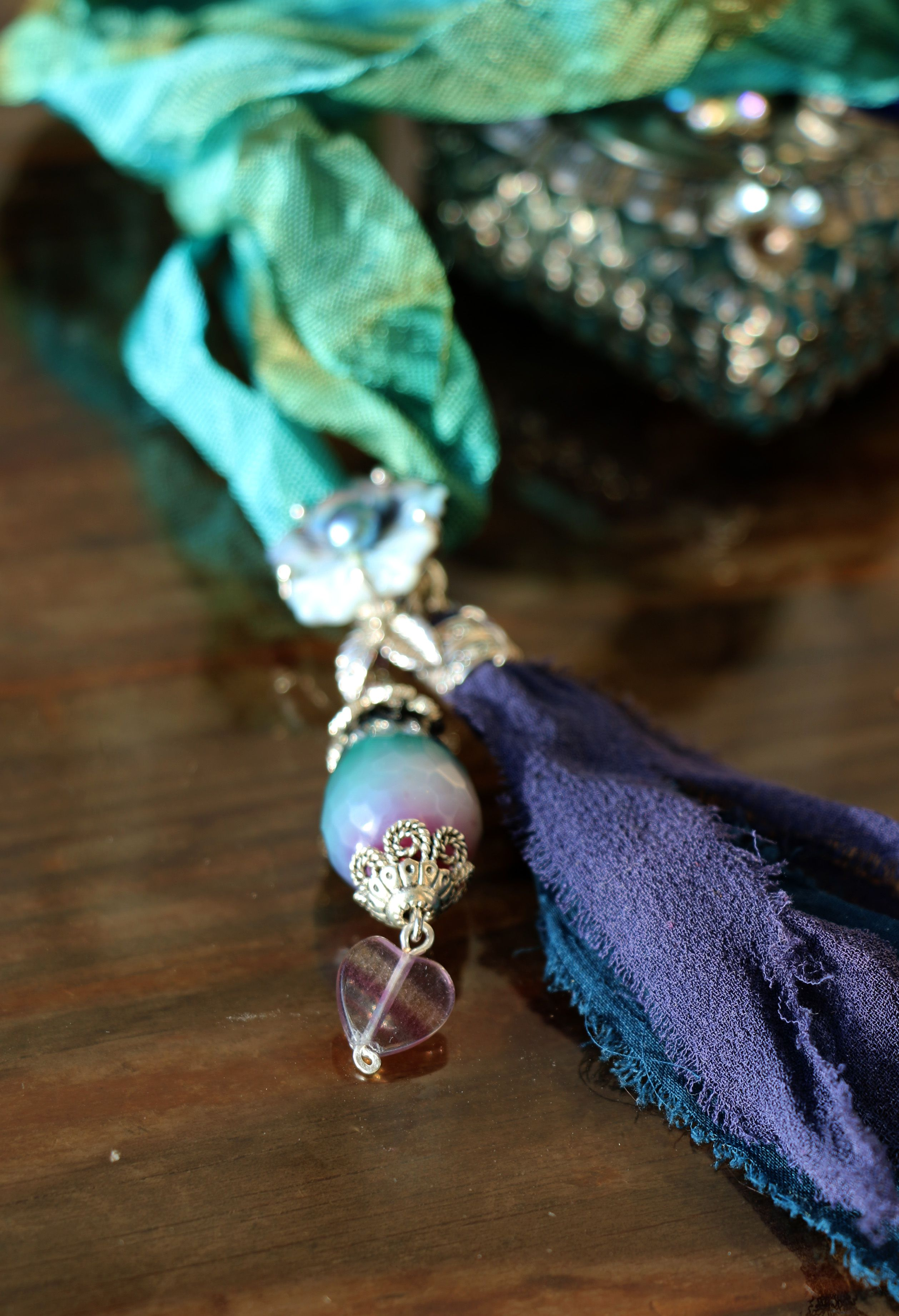 зеленый лента сине павлина винтажный изумрудный стиль камни шебби хвост натуральные