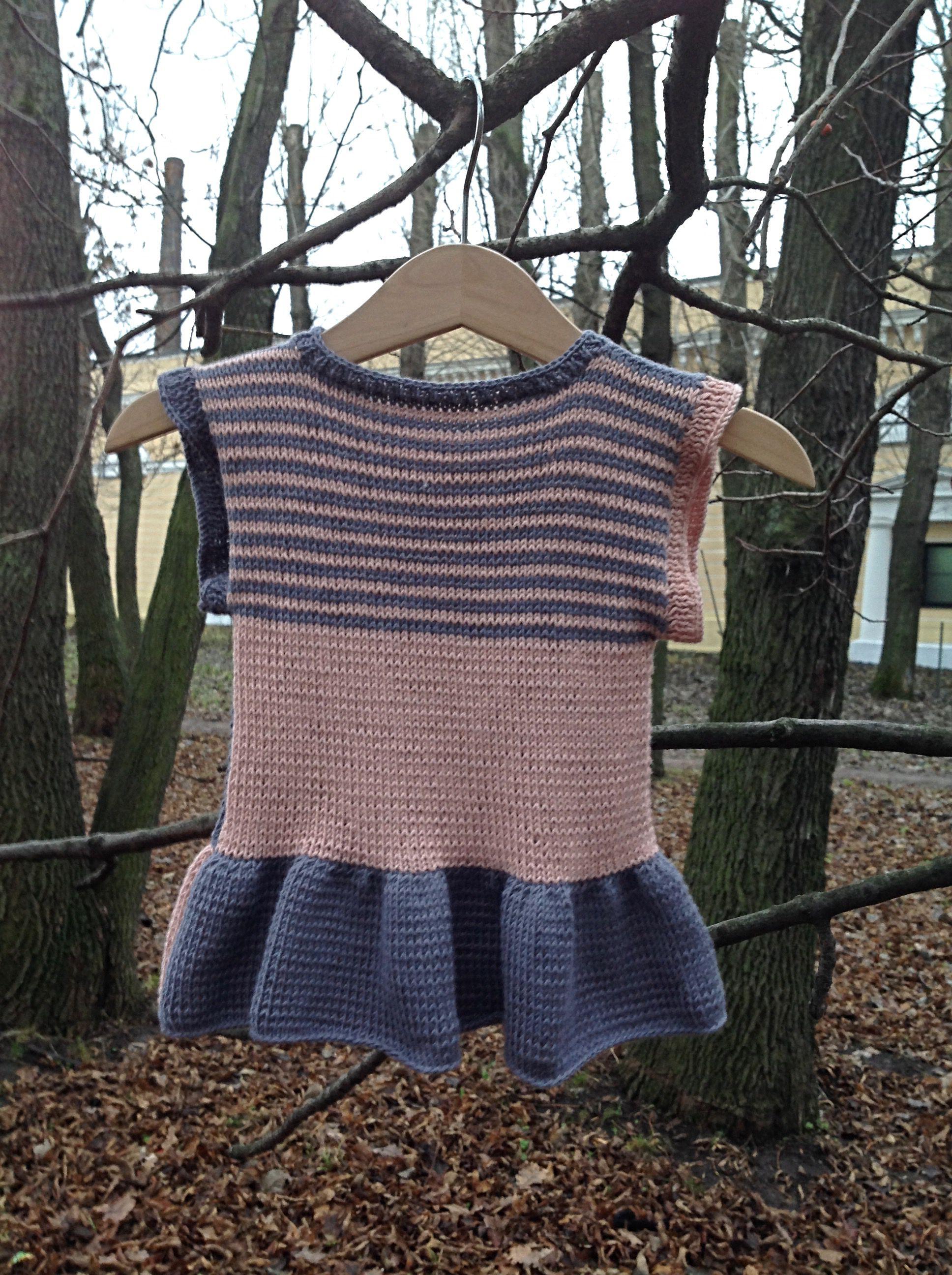 детскаяодежда 2полоски вязание платье вязаноеплатье длядевочки