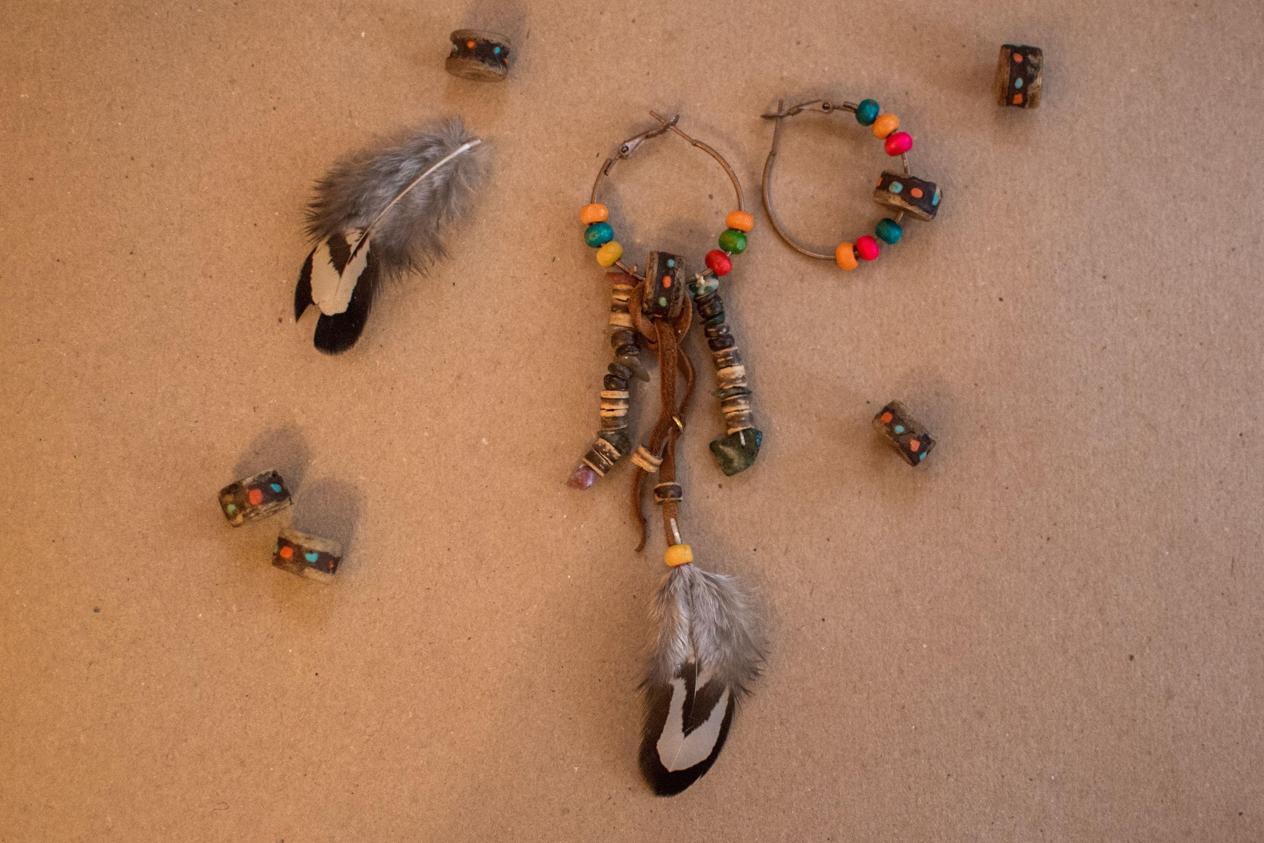 ручнаяработа этнический подарок серьги талисман амулет бусины украшение натуральныекамни индейцы