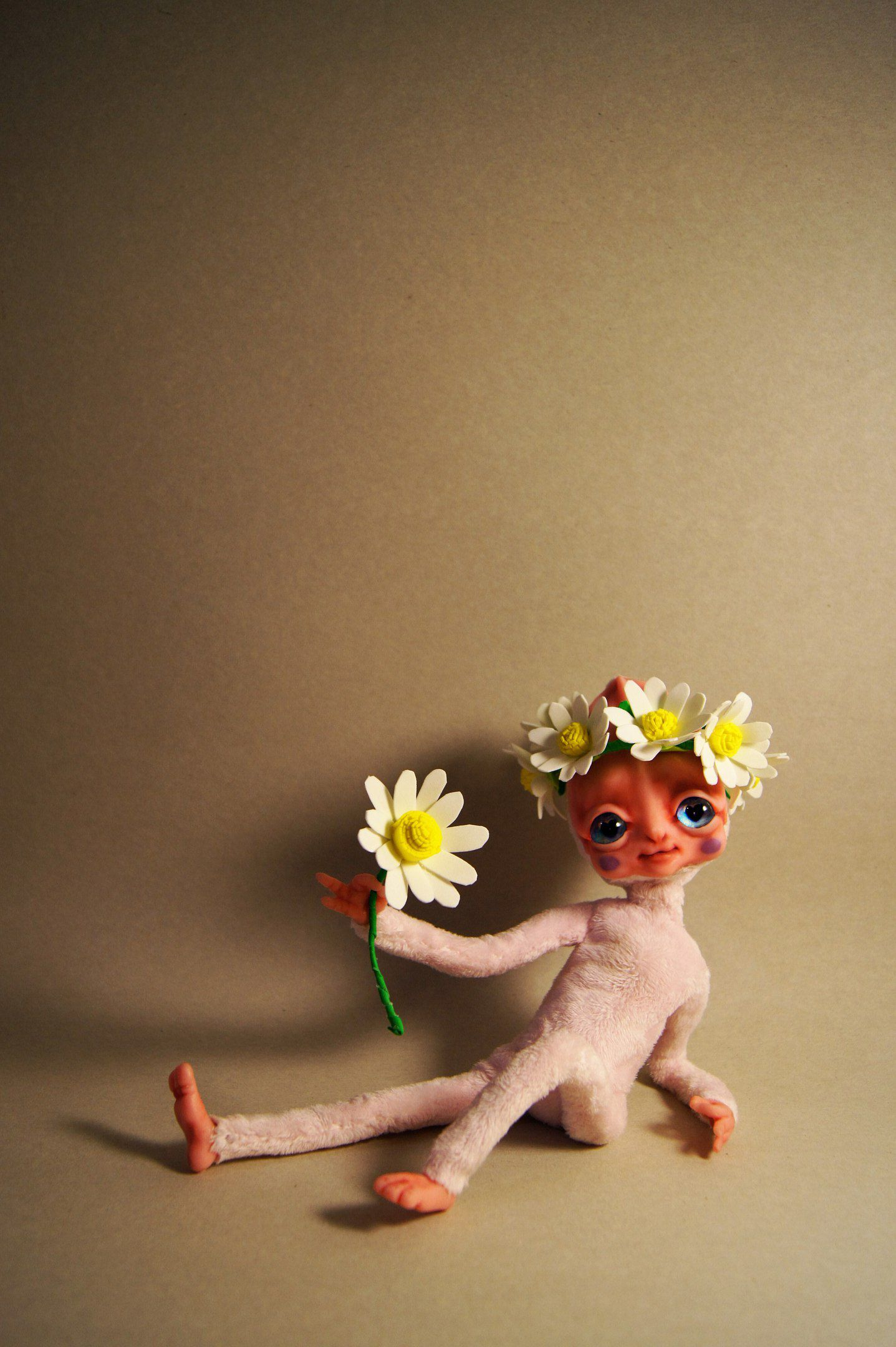 пришелец ручнаяработа кукла интерьерная каркасная инопланетянка