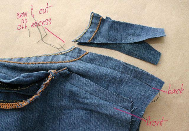 Из старых джинсов своими руками 5