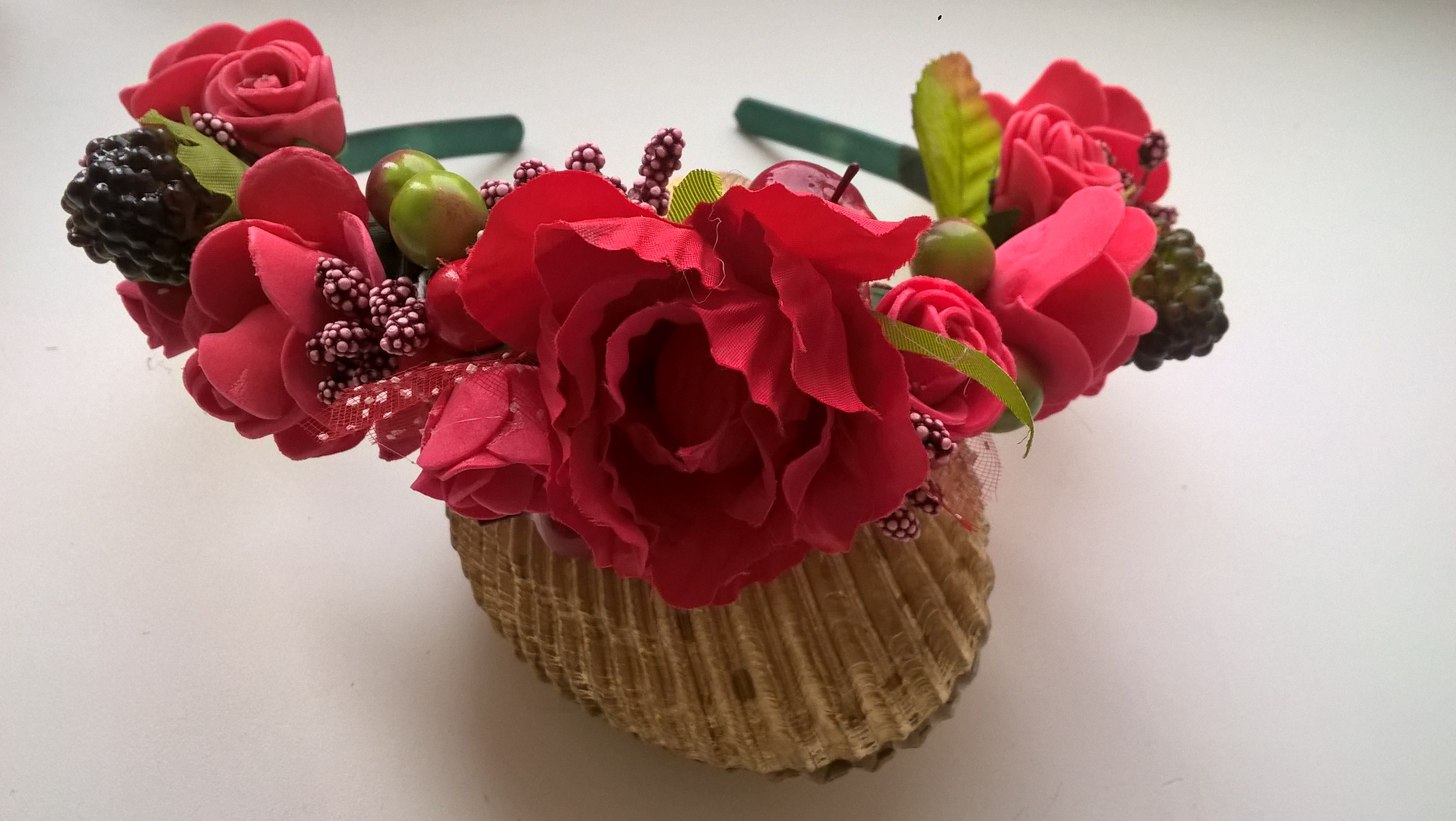 изцветов ягодки ободок дляволос аксессуар венок