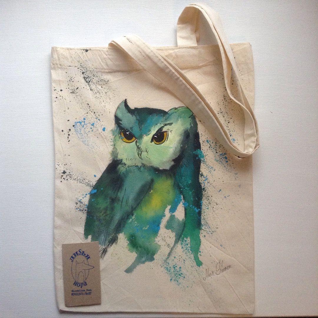 подарок работа эксклюзивный ручная экосумка росспись