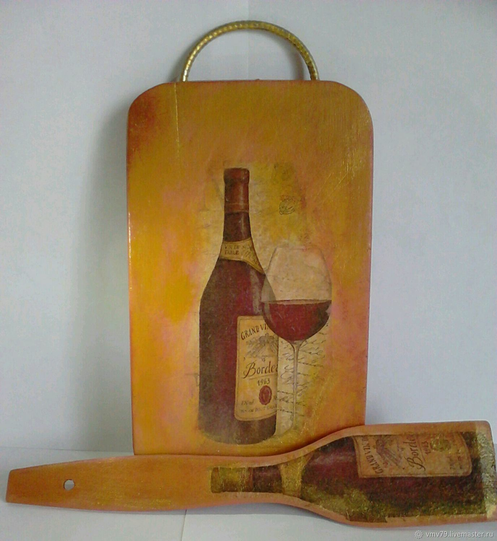 бокал кухня интерьер декупаж столовая доска вино