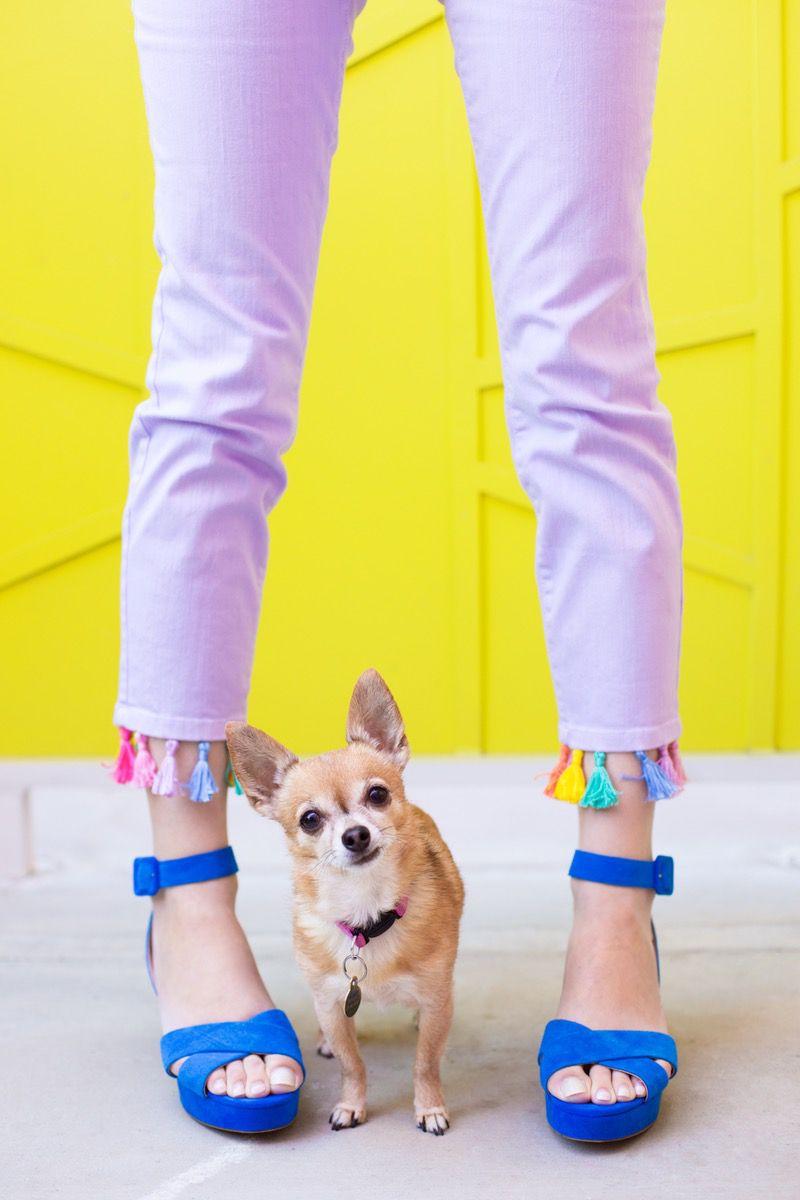 идеи своими обновление для кисточки руками джинсов одежды сделай сам ниток